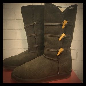 Emu Genuine Sheepskin Tall Boots Chocolate Brown